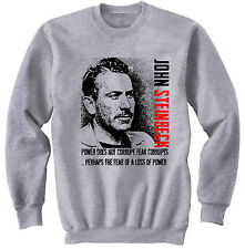 JOHN STEINBECK - NEW COTTON GREY SWEATSHIRT- ALL SIZES IN STOCK