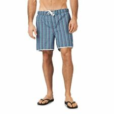 Original Penguin Check Swimming Shorts - Total Eclipse - Sml or Med