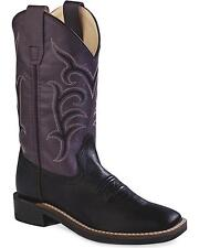 Old West Girls' Colorful Western Cowboy Boot Square Toe - BSY1856