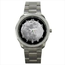 Full Moon Stainless Steel Sports Watch
