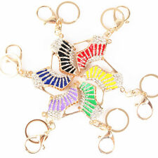 Charm Crystal Shoe High Heel Keyring Rhinestone Purse Pendant Bag Key Chain Gift