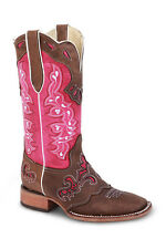 Womens Pink Cowgirl Western Leather Rodeo Boots REDHAWK 5200 Size 5-10 (B, M)