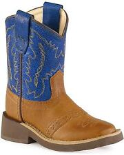 Old West Toddler-Boys' Crepe Sole Cowboy Boot Square Toe - 1729I