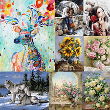 30*40cm Kids DIY Digital Oil Painting By Number Kit Canvas Paint Hanging Decor