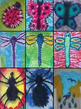 ADULT Handmade Tie Dye shirt INSECTS-LADYBUG BUTTERFLY DRAGONFLY SPIDER SCORPION