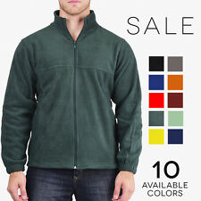 Harriton Mens Zip Fleece Jacket Midweight Basic Coat M990