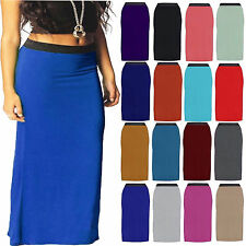 Womens Ladies Bodycon Gypsy Long Jersey Maxi Dress  Skirt Ladies Skirt Size 8-26