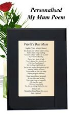 Personalised Poem My Mother Mom Mum Maa Mothers Day Mothering Sunday Birthday