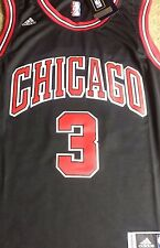 Brand New NBA Chicago Bulls Dwayne Wade Adidas Black Swingman Jersey NWT