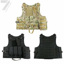 UK Tactical Military Vest Army Paintball Airsoft Combat Assault Vest Adjustable