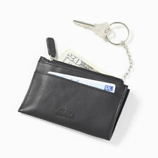 Clava Leather Zippered Coin Purse with Key Ring