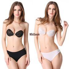 Women seamless Strapless Self Adhesive Silicone Invisible Push-up Bra underwear
