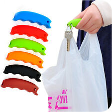Practical 1Pcs Siliocone Random  Shopping Helper Handle Carry Bag Relaxed Tool