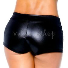 Sexy lingerie Women Patent Leather Wetlook Shorts Clubwear hot pants Party Dance