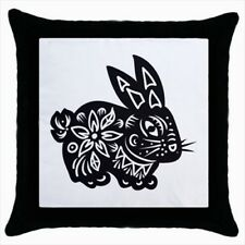 Year of The Rabbit Chinese Zodiac Throw Pillow Case