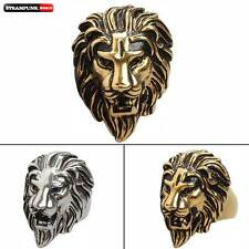 Rock Steampunk Gothic Animal Lion Head King Stainless Steel Ring Jewelry Mens