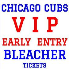 CHICAGO CUBS vs PHILLIES · TUESDAY MAY 2 · VIP EARLY ADMISSION BLEACHER TICKETS