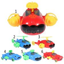 Plastic Pull Back Assembled Submarine/Airplane/Car Model Toy Home Desk Decor