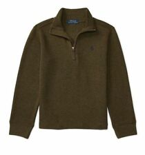 Polo Ralph Lauren Toddler Boys French Rib Half Zip Cotton Pullover Sweater NEW