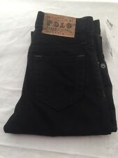 Polo Ralph Lauren Boys Size 4 Black Jeans Slim 381 100% Cotton