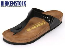 BIRKENSTOCK ARIZONA  GIZEH  PATENT WHITE / BLACK Arizona Soft Footbed 756789 L M