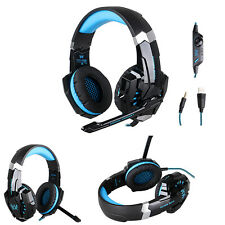 New PS4 Gaming Mic&LED 3.5mm Over-ear Headset Headphone for PC iPhone Samsung