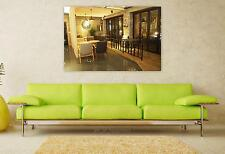 Stunning Poster Wall Art Decor Cafe Interior Restaurant 36x24 Inches