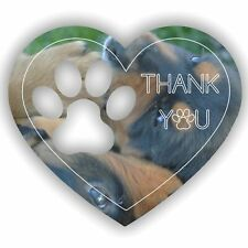 Paw Print Heart with Personlised Message Acrylic Engraved Mirror