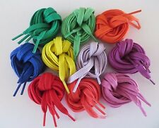 "Flat 100% Cotton Shoelaces 36"",45"", 54"", Multiple Colors"