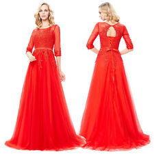 Long Lace Wedding Formal Evening Party Bridesmaid Ball Gown Prom Cocktail Dress