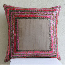 Pink 3D Floral 30x30 cm Silk Cushions Cover - Pretty Pink Flowers