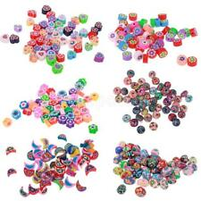 50x Polymer Clay Loose Spacer Beads Charms for Jewelry Making DIY Craft Findings