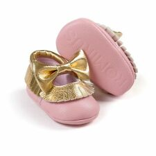 S 0-6Month Baby Girls Soft Soled Crib Trainer Pram Shoes Infant Toddler Moccasin