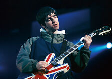 Noel Gallagher Oasis Union Jack Guitar Live Canvas Print Wall Art Photo
