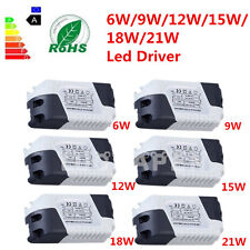New Dimmable LED Light Lamp Driver Transformer Power Supply 6/9/12/15/18/21W DS