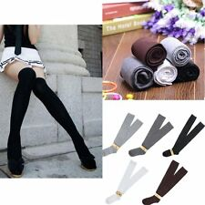 Solid Girls Ladies Long Cotton Stockings Women Thigh High Over The Knee Socks XH