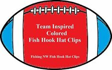 Team Colored Inspired Fish Hook Hat Clip / Fish Hook Hat Pin -- 32 Sets Offered