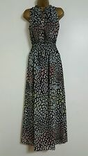 NEW M&S Multi-Coloured Animal Printed Chiffon Maxi Dress Summer Wedding Holiday