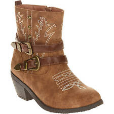 Faded Glory Youth Girls Brown Fashion Cowboy Casual Boots/Shoes: 12-6