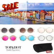 Metal Frame Sunglasses UV400 For Unisex With PU Leather Sungalasses Case Lot SM