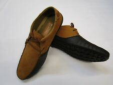 Mens Lace up Square Toe Padded Comfy Casual Moccasin Boat Loafers Shoes Colours