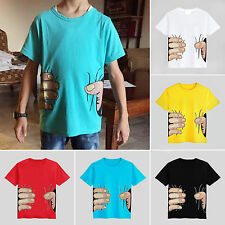 Kids Boys Children Short Sleeve T-shirt Casual Tops Shirts Cotton Tee 2-8 Years