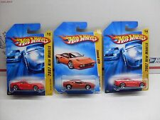 Lot of 3 FERRARI Hot Wheels New Model 2007 599 GTB Red and 2008 GTO FERRARI