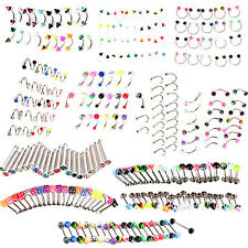 20 PCS EYEBROW LIP TONGUE NOSE NAVEL BELLY BUTTON RINGS BODY PIERCING STUNNING