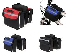 Bike Bicycle Cycling Mountain Front Frame Tube Pannier Saddle Bag Tube Pouch