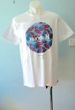 Hurley Mens Printed T Shirt - WHITE - SIZE - SMALL  - NEW