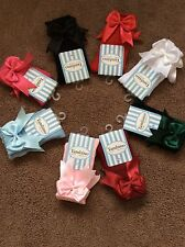Tambino Spanish Socks Double Bow size 000 Shoe size 14/15 Age 0-6 Months New