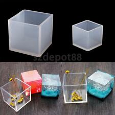 DIY Crystal Jewelry Mold Pendant Cube Shape Silicone Ornaments Resin Crafts Tool