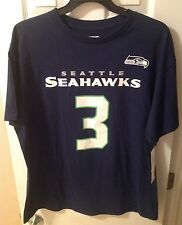 Russell Wilson, NFL Seattle Seahawks Name and Number Jersey Shirt, NEW, L/XL