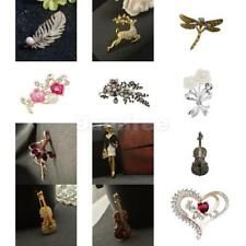 Multi Styles Vintage Crystal Rhinestone Brooch Pin Party Jewelry Charm Gift